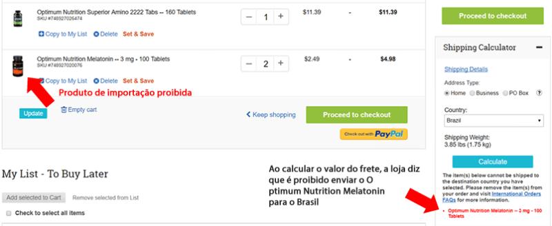 vitacost Brasil