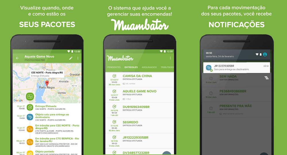 muambator apps de rastreamento internacional