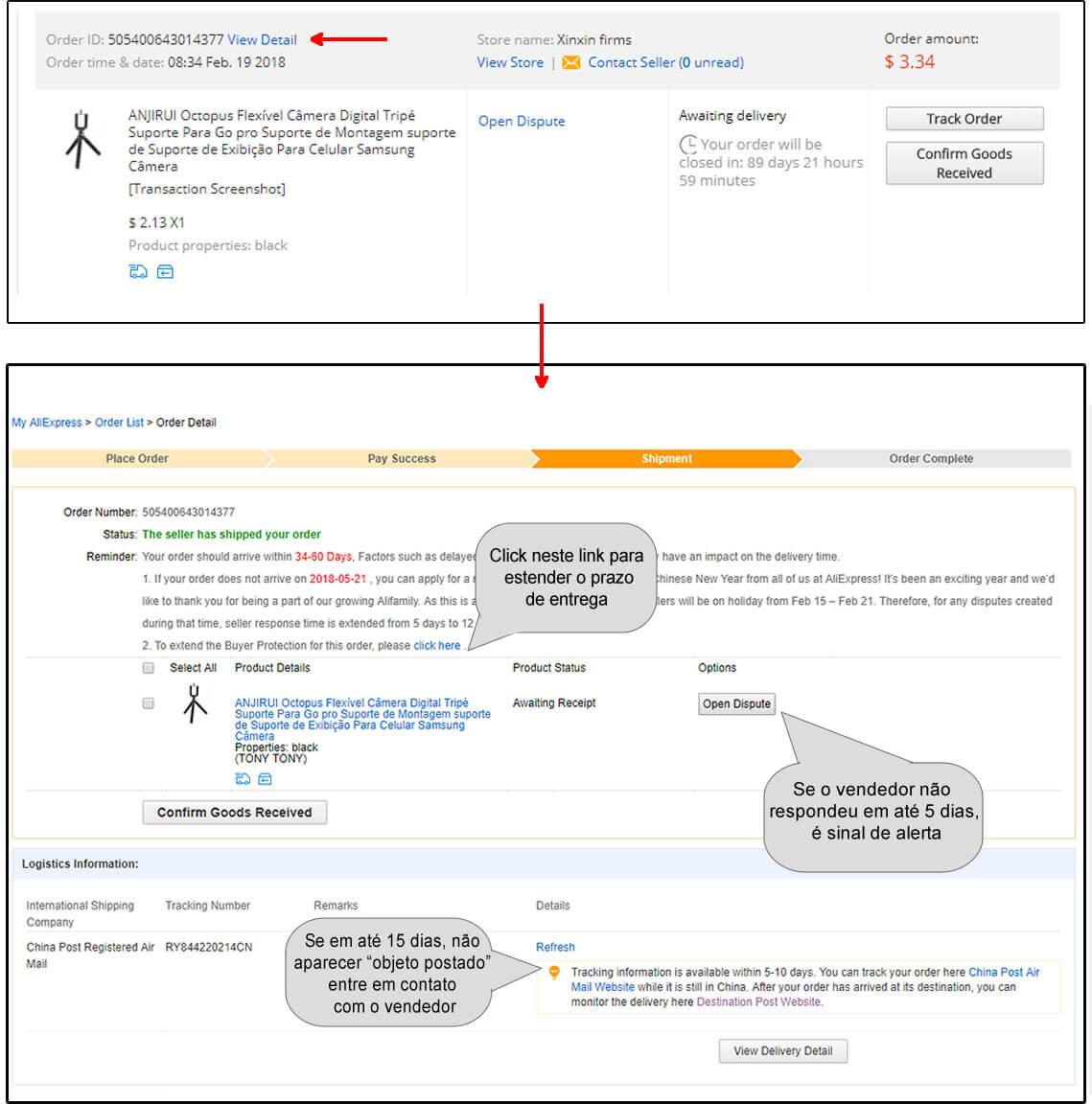 aliexpress é China - Transação segura no Aliexpressl