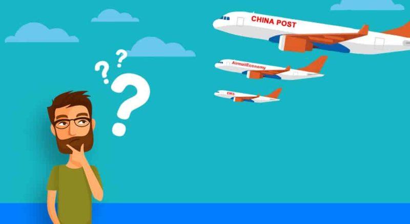 qual frete escolher para importar vestidos da china