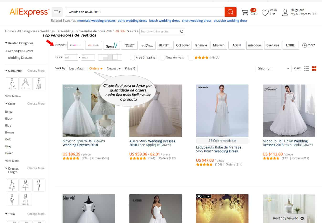 comprar vestidos no aliexpress