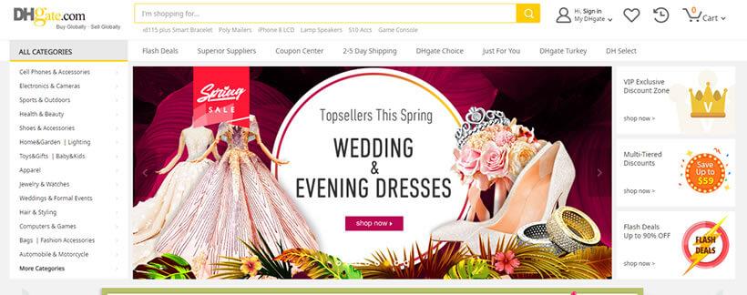 DHgate - site de compras da China