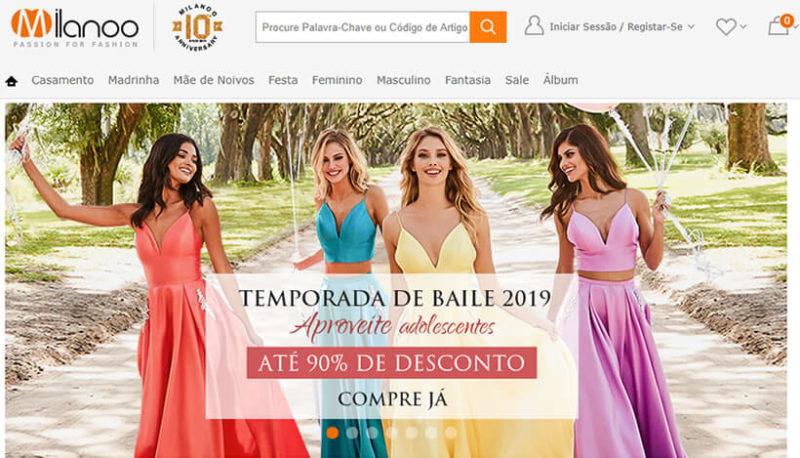 Milanoo site de compras roupas de noivas da China