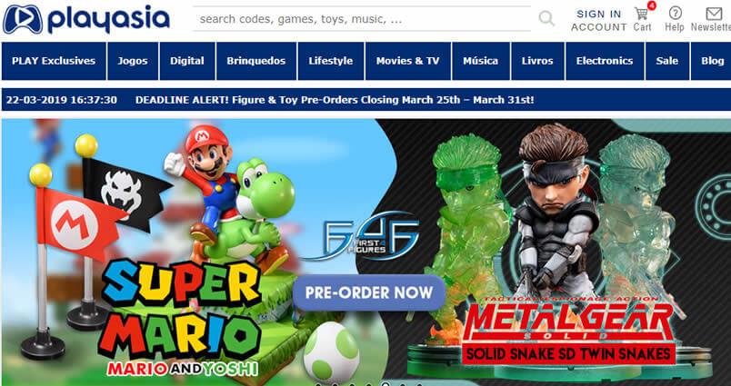 Play-Asia- melhor lojas chinesa de video games e action figures