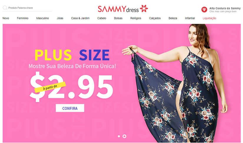 SammyDress melhor site de compras de roupas da China