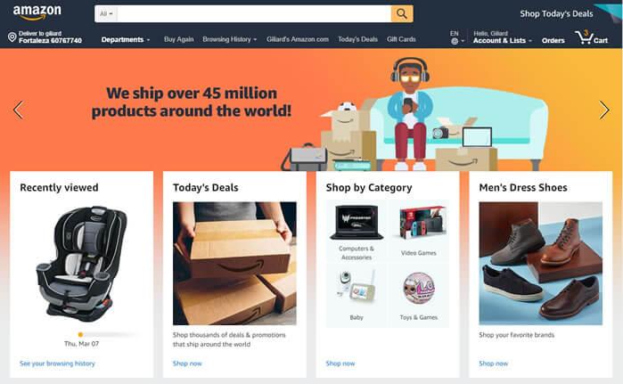 amazon - maior site de compras do mundo