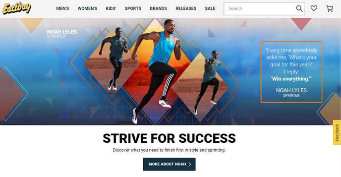 eastbay - site de compra de tenis americano