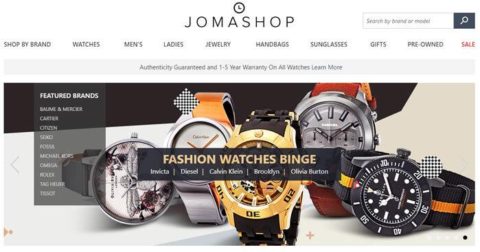 jomashop - site de compra de relogios de marcas