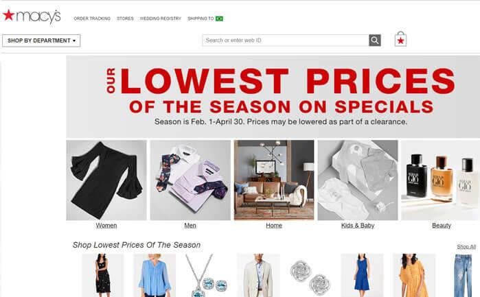 macys -melhor sites de compras americano