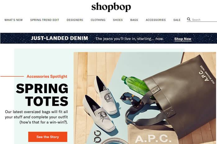 shopbop -  site de compras dos estados unidos