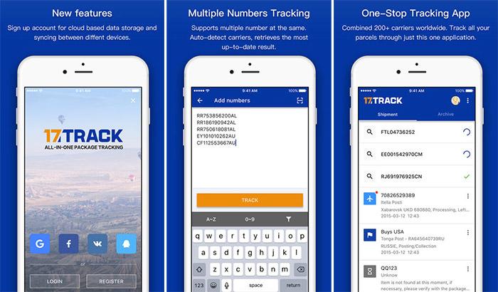 17Track- aplicativo de rastreamento