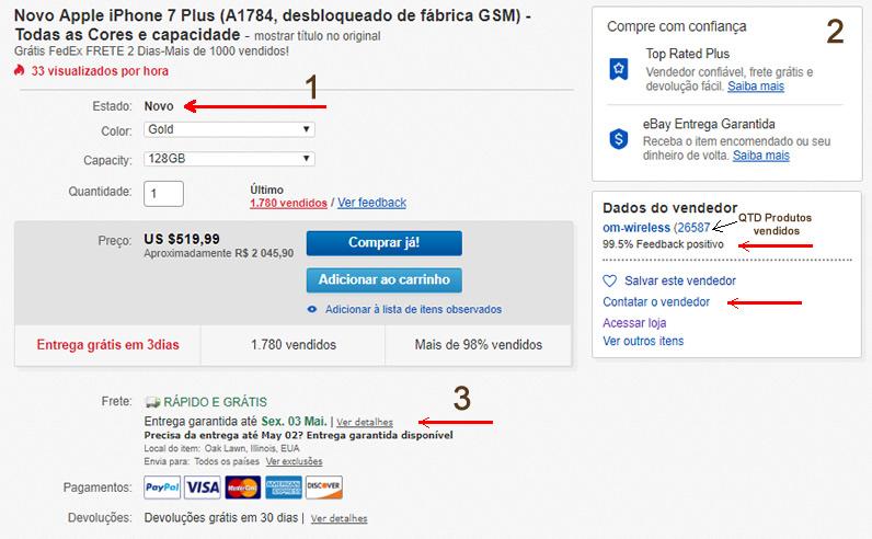 ebay apple compra  iphone 7 plus