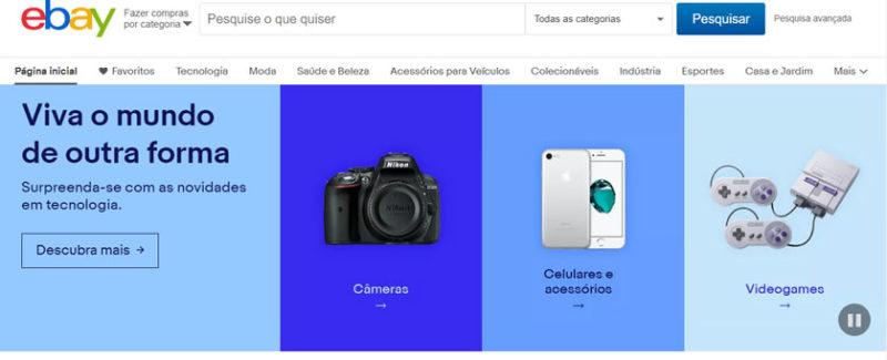 site do eBay Brasil é confiável e seguro