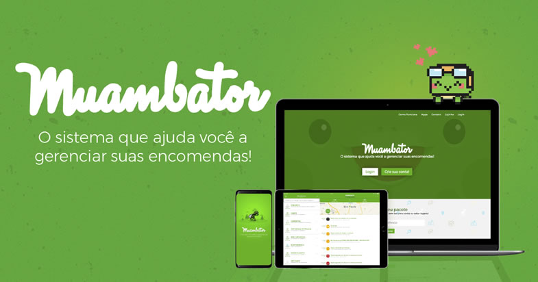 Muambator aplicativo de rastreamento internacional