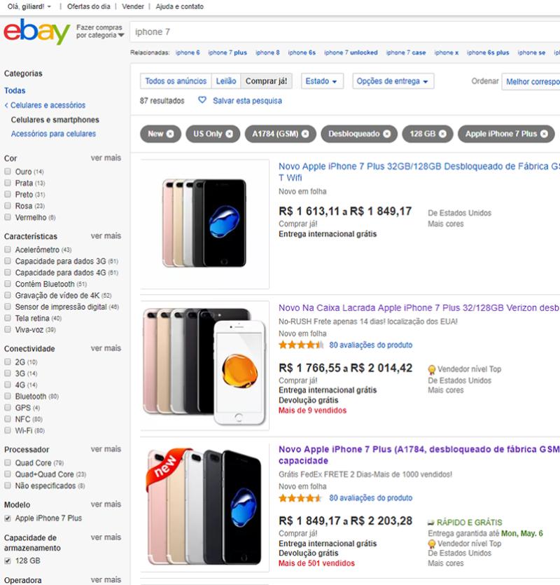 vendedores confiáveis do ebay