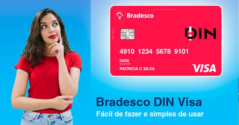 cartão de crédito pré-pago Bradesco DIN
