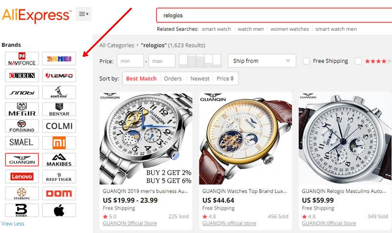 Cuidado com relógio de marca no Aliexpress e sites da China